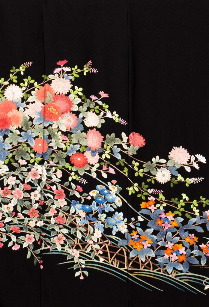 総相良刺繍四季草花