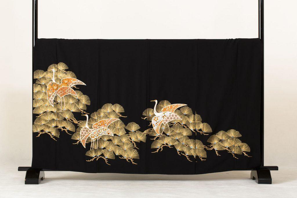 針松に変わり鶴