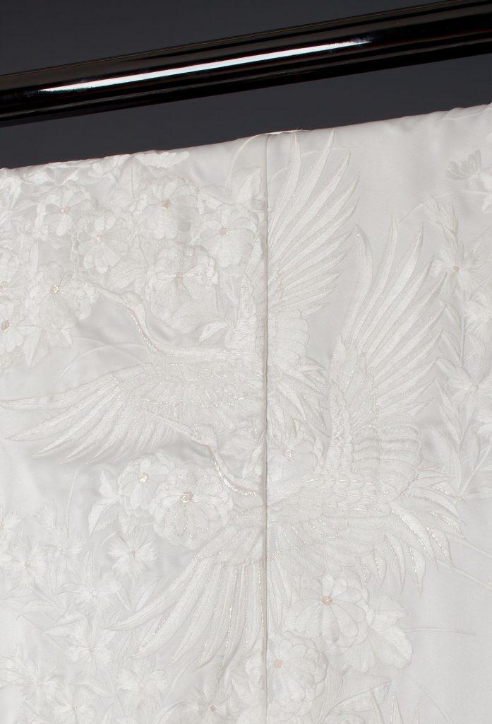 飛翔鶴草花紋(ラメ)