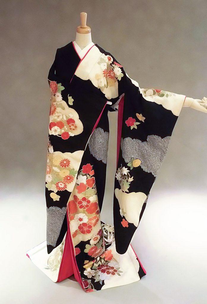 花丸紋 黒