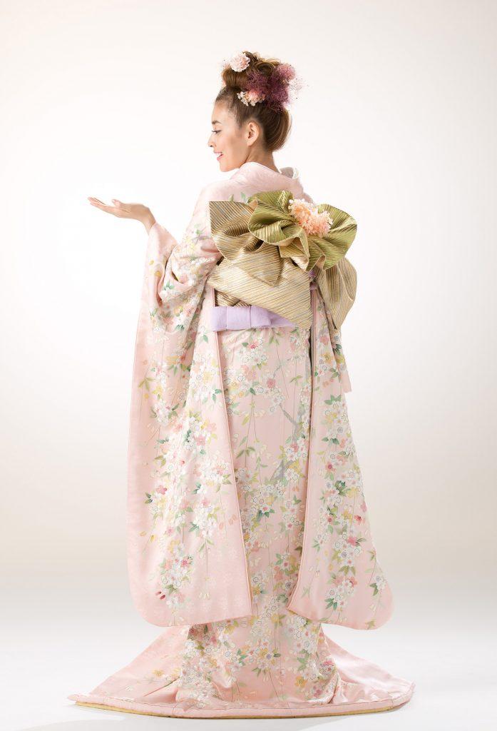 ピンク地枝垂桜