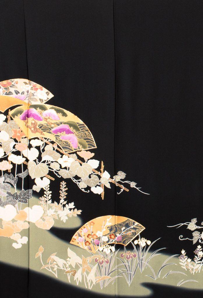 扇面四季花々