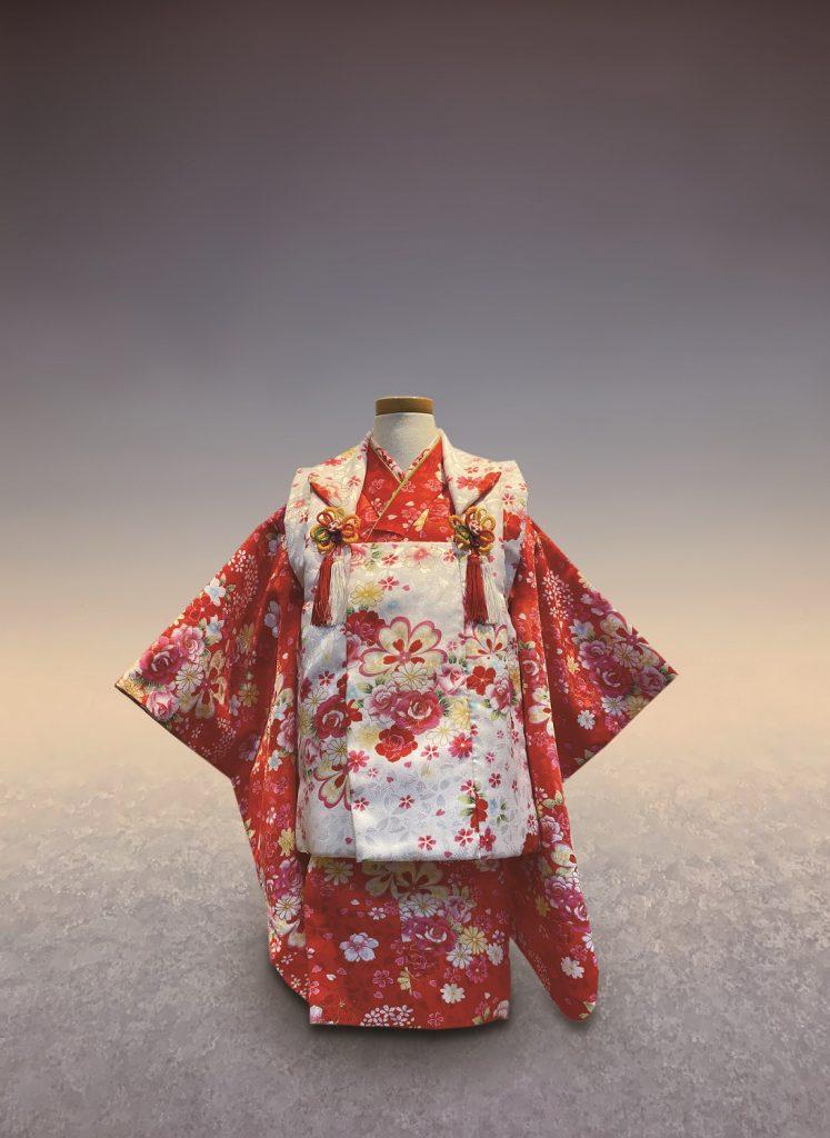 白赤 花づくし(被布セット)